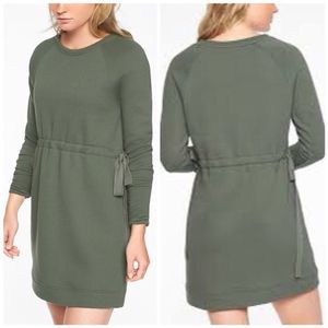 Athleta Studio Cinch Sweatshirt Dress Sz L